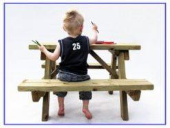 Kinder picknicktafel hout
